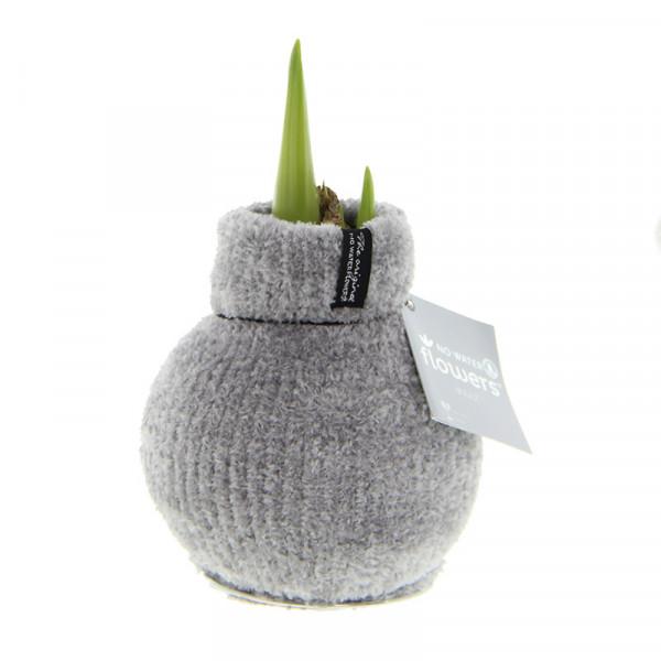 Wax Amaryllis Fashionz Cozy Fluffy Grey